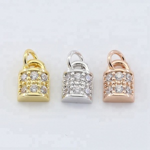 Alloy lock charms Silver Gold Pendants for jewelry 18mm Rose Gold Lock Pendant