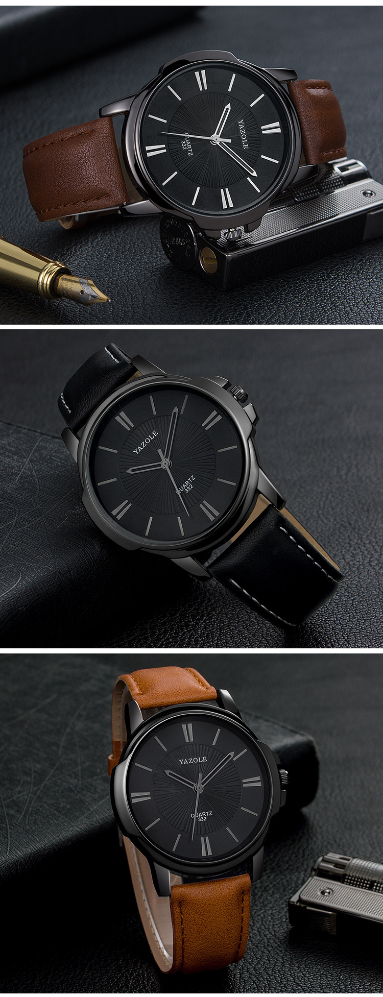 Large dial men's business watchc fashion waterproof men and women watch New spot watch wholesale