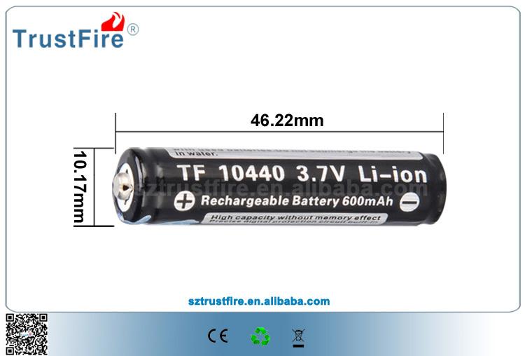 10440 Small 3.7 Volt Battery Trustfire 3.7v Aaa Battery ...