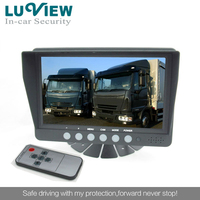 7 inch Quad Split Car Monitor with Speaker for school bus