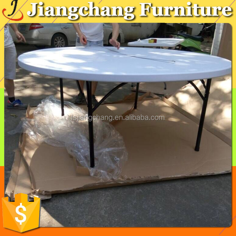 Event Plastic Fortable HDPE Round Table For Outdoor JC-AN148