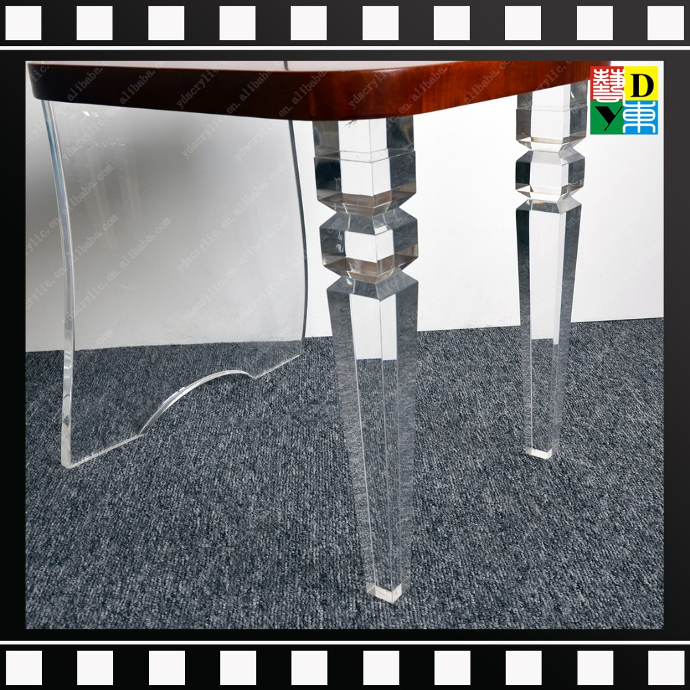 2016 Hot Sell Acrylic/plexiglass/PMMA Discount Table Legs And Dining Chair  Legs Replacement