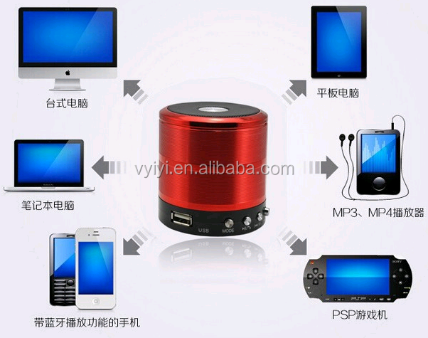 Wireless Bluetooth Speaker WS 887 with Selfie Function, Outdoor Mini Speaker Support TF/USB Disk, Handsfree Speaker Bluetooth