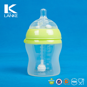 FDA Standard Super Wide Neck Silicone Baby Milk Bottles Water bottle