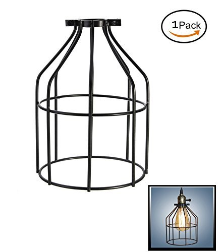 Metal Lamp Guard,Fashionclubs Industrial Bulb Guard Vintage Lamp Holder,Pendant Wire Lamp/Light Guard Cage Lampshades (Pack of 0ne)