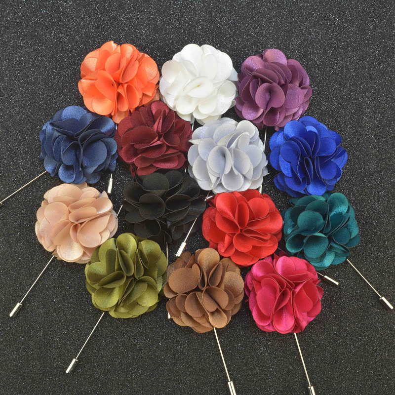Men's Brooches Floral Lapel Pin for Men Suit Brooch Colorful Label Pins Upscale Brooches Flower Pin Fashion Mens Jewelry