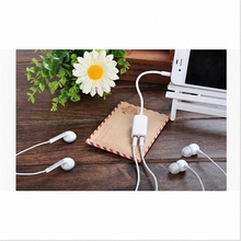 Hot Sale Fone De Ouvido Headset One In Two Couples for Audio Line Phone A 3.5 Splitter with Lovers Headphones Earphone