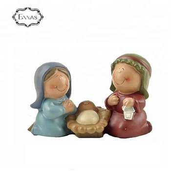 Customized Color Religious Angel and Baby Polyresin Decoration