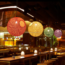 colorful rope pendant light with various dia.for rooms decoration