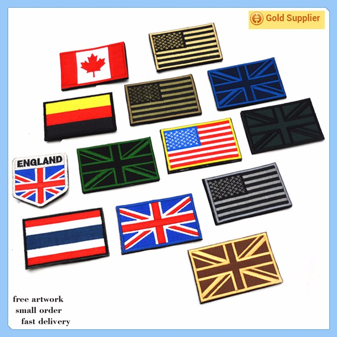 Custom cheap adhesive embroidery patches no minimum buy