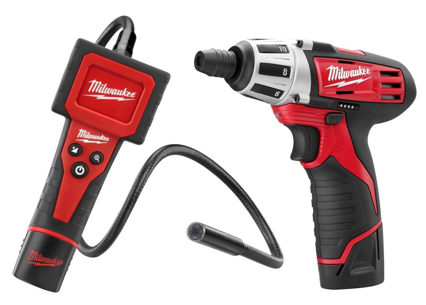Milwaukee 2310 12-Volt Lithium-Ion M-Spector Digital Inspection Camera and 2401 M12 Compact Screwdriver Combo Kit