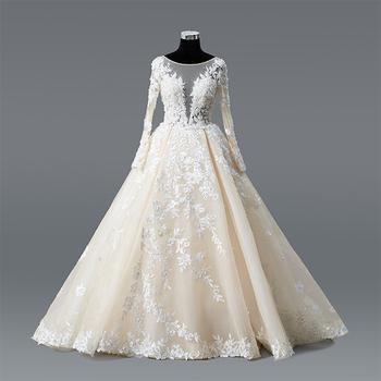 Muslim Designs Wedding Dresses Bridal Ball Gown 2019 See Through Lace Pattern Long Sleeve Wedding Dress Buy High Quality Long Sleeve Wedding