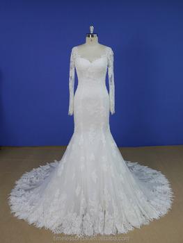 2017 Latest Mermaid Long Sleeves Lace Wedding Dress Pattern Buy Long Sleeves Lace Wedding Dress Patternlace Wedding Dress Patternwedding Dress