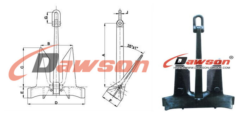 Ac-14 Hhp Stockless Anchor,Ship Anchors,High Holding Power Anchor ...