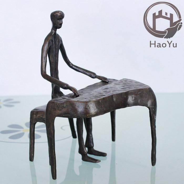 Piano smeedijzeren ornamenten gietijzer brons sculptuur voor huisdecoratie metaal ambachten - Afbeelding van huisdecoratie ...