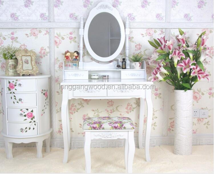 2017 Home furniture MDF makeup dresser table with drawer