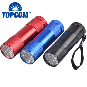 Regular AAA Battery 9 leds Mini Flashlight Portable Bright Light Torch