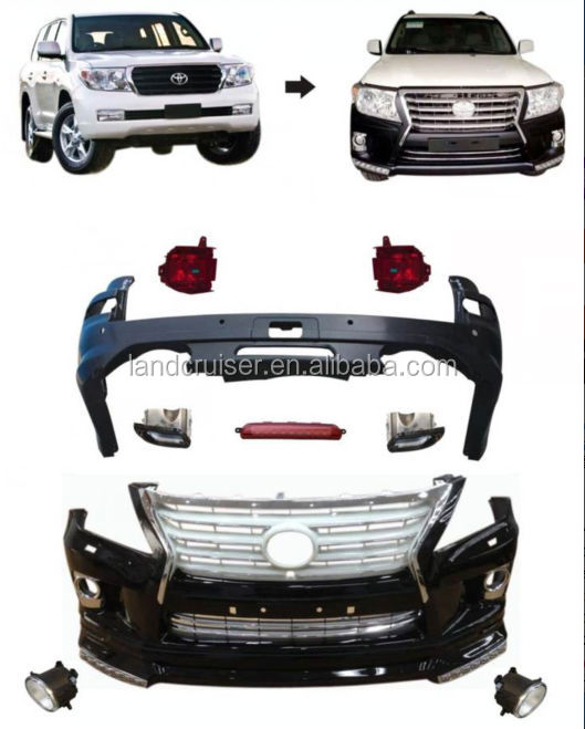 Landcruiser to Lexus lx 570 conversion kit, land cruiser upgarde to lexus body kits