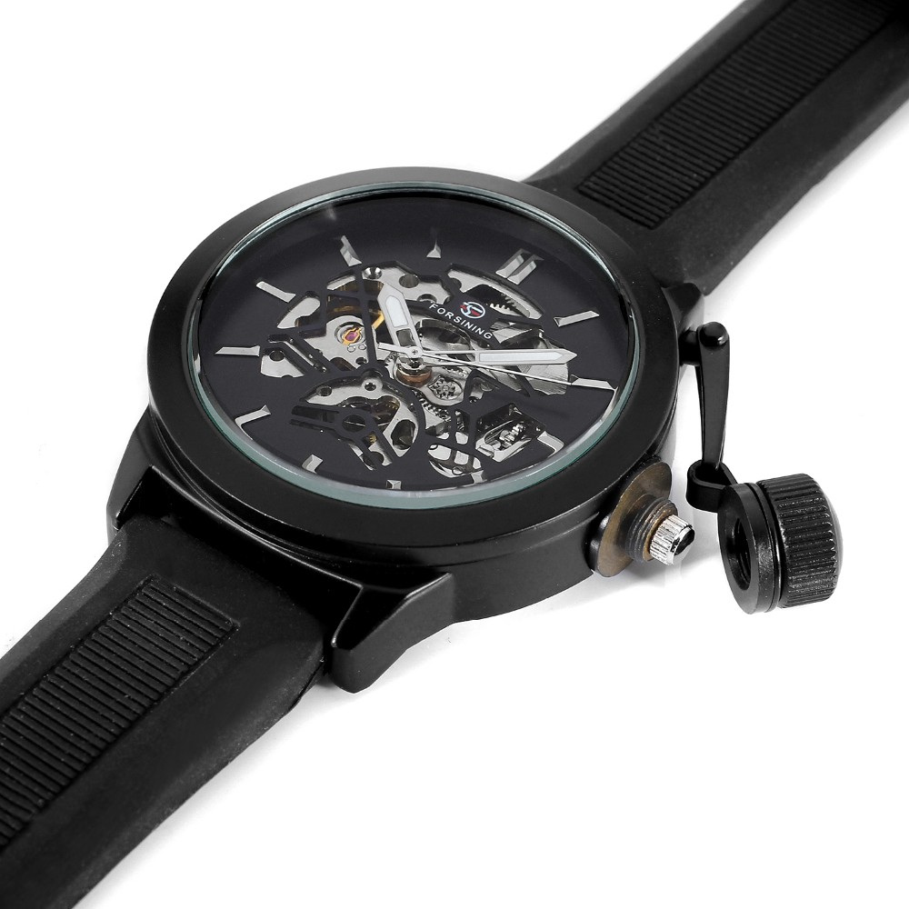 2018 new arrived ! Skeleton Men Automatic Luxury Silicone Big Face Watches