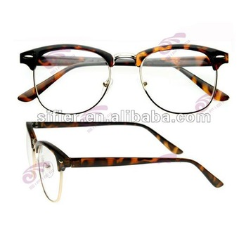 Big Size Lens Half Acetate Frame Metal Round Glasses Frame - Buy ...