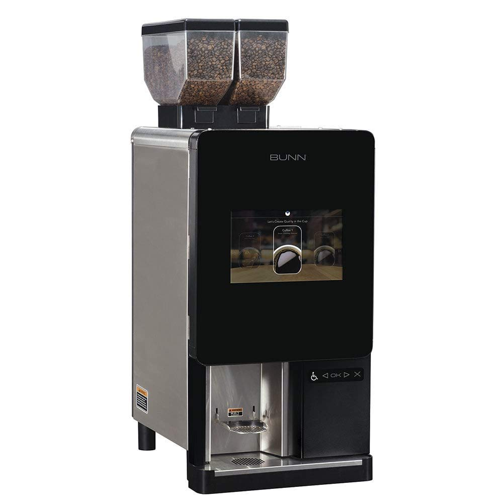 "Bunn 44400.0100 Sure Immersionâ""¢ Bean to Cup Coffee Brewer w/ (2) 3-lb Hoppers & (2) Grinders, 120v (44400.0100)"