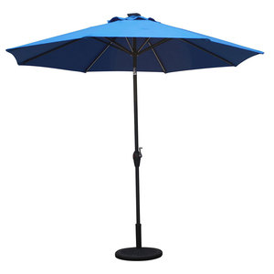 Top quality new summer beach style sun parasol and factory supply great price solar energy led parasol from china