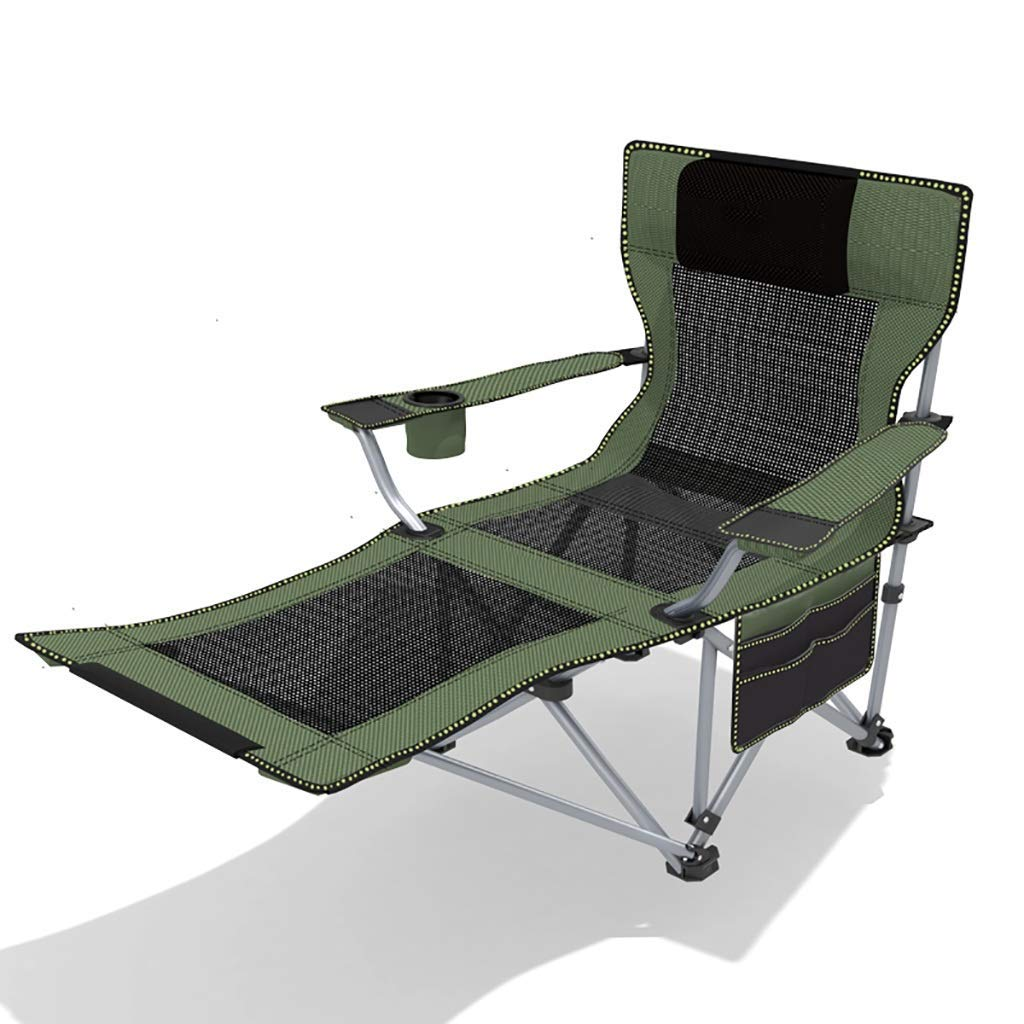 XXYY Outdoor Folding Chair Recliner Portable backrest Chair Beach Fishing Chair Nap Lunch Break Chair