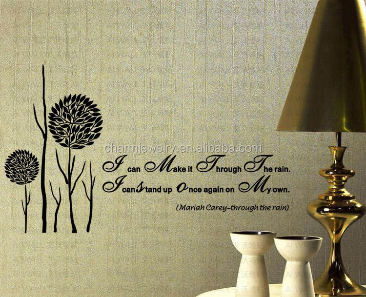 natural wall stickerfor freedom wall sticker for bedroom QTS049