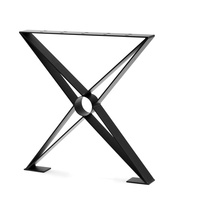 New Design Metal X Shaped Metal Coffee Table Legs Base