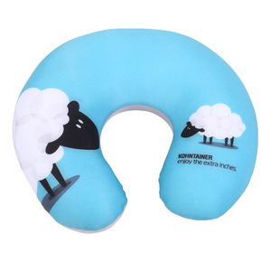 Travel U Shaped Airplane Fashion Cheap Custom Design High Quality Neck Protect Bean Neck Pillow