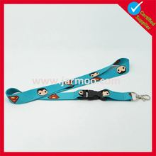 wholesale high quality cheap polyester customer lanyards