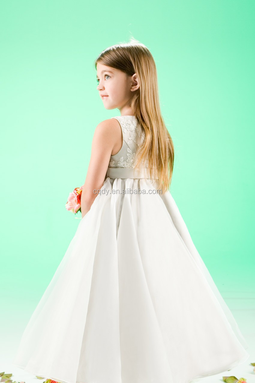 2017 Elegant Best Looking Dresses For S Ivory Embroidery Princess Dress Kids Fashion