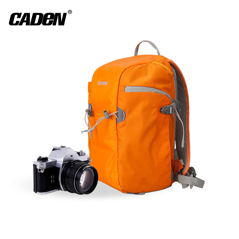 Fashion korean style slr orange waterproof polyester multifunctional photography camera backpack