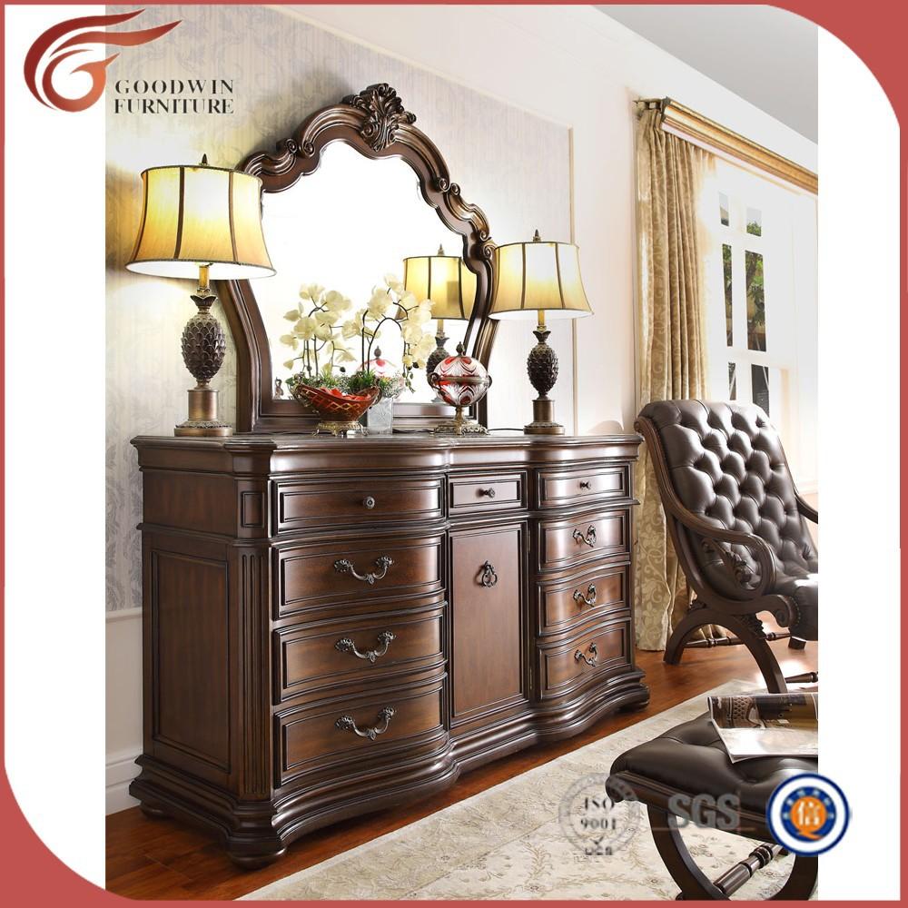 Antique Style Am Ricain Meubles De Chambre Coucher En Bois Lots  # Modele Du Meuble En Bois