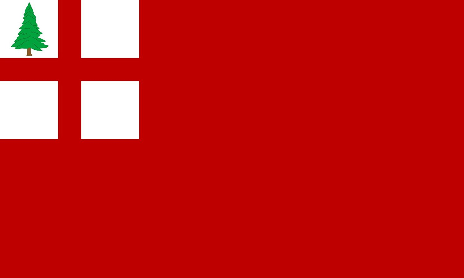 magFlags Large Flag New England combo | New England red ensign | landscape flag | 1.35qm | 14.5sqft | 90x150cm | 3x5ft -- 100% Made in Germany -- long lasting outdoor flag