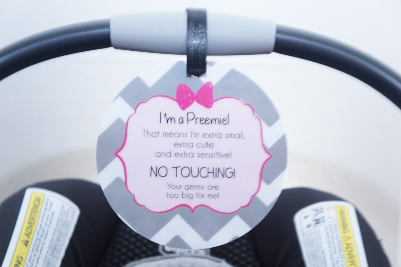 dad748f997e Get Quotations · Girl Preemie sign