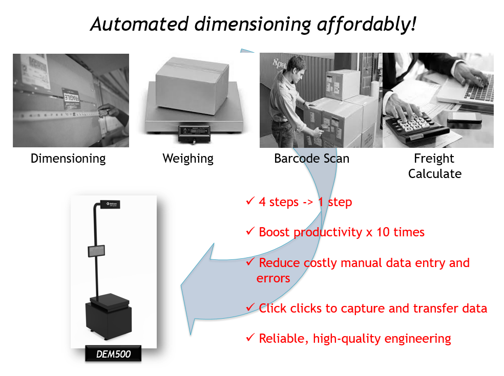 DWS system photo weight and scanning machine for express delivery industry