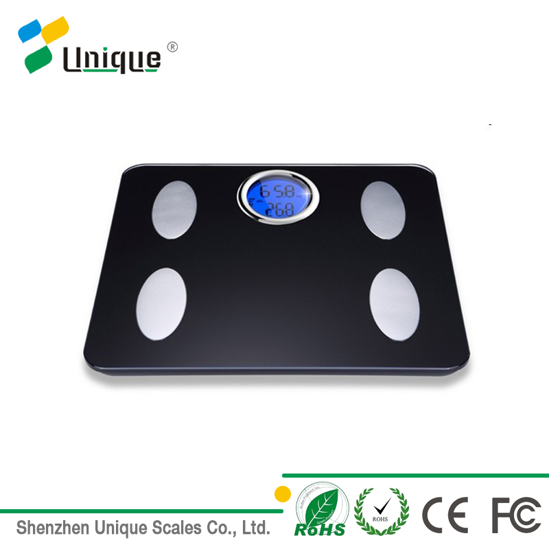 APP Customized Health Fitness Analysising Electrode Large LCD Electronic Body Fat Scale