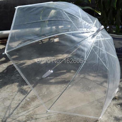 Прозрачный зонт большой складной изысканный классический зонтик женщин вс / дождь прочный автоматический зонт