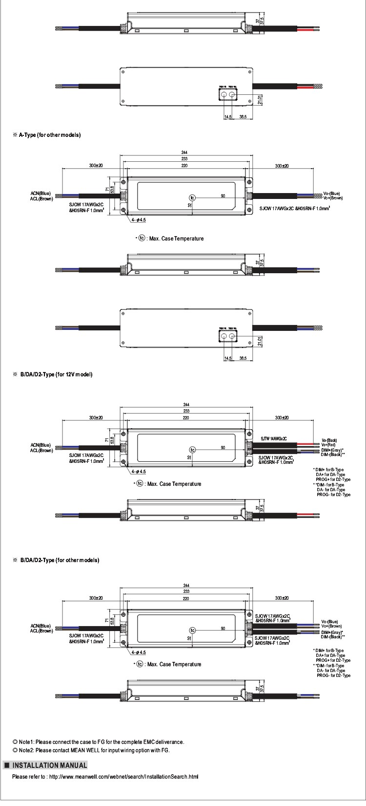 Mean Well Elg 200 12a 200w 12v Led Power Supply Driver Schematic