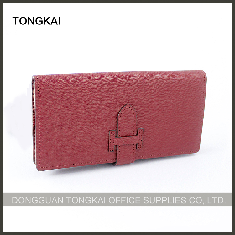 Zippered red imperial leather clip ladies wallets 2016