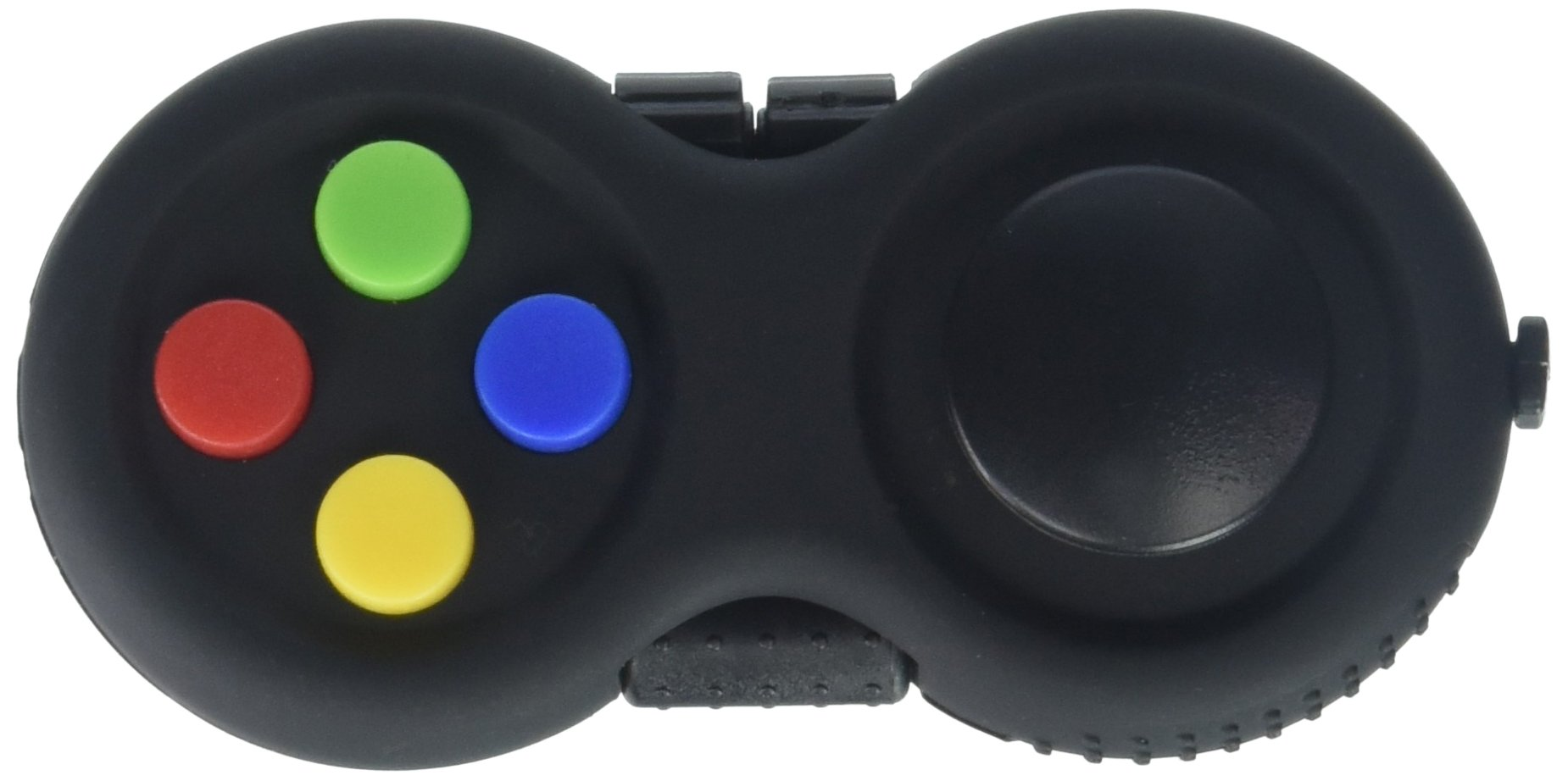 Fidget Pad - 9 Fidget Features (more than Fidget Cube) - Perfect For Skin Picking, ADD, ADHD, Anxiety and Stress Relief - Multi Color Rainbow on Black - Prime Ready and Shipped by Amazon