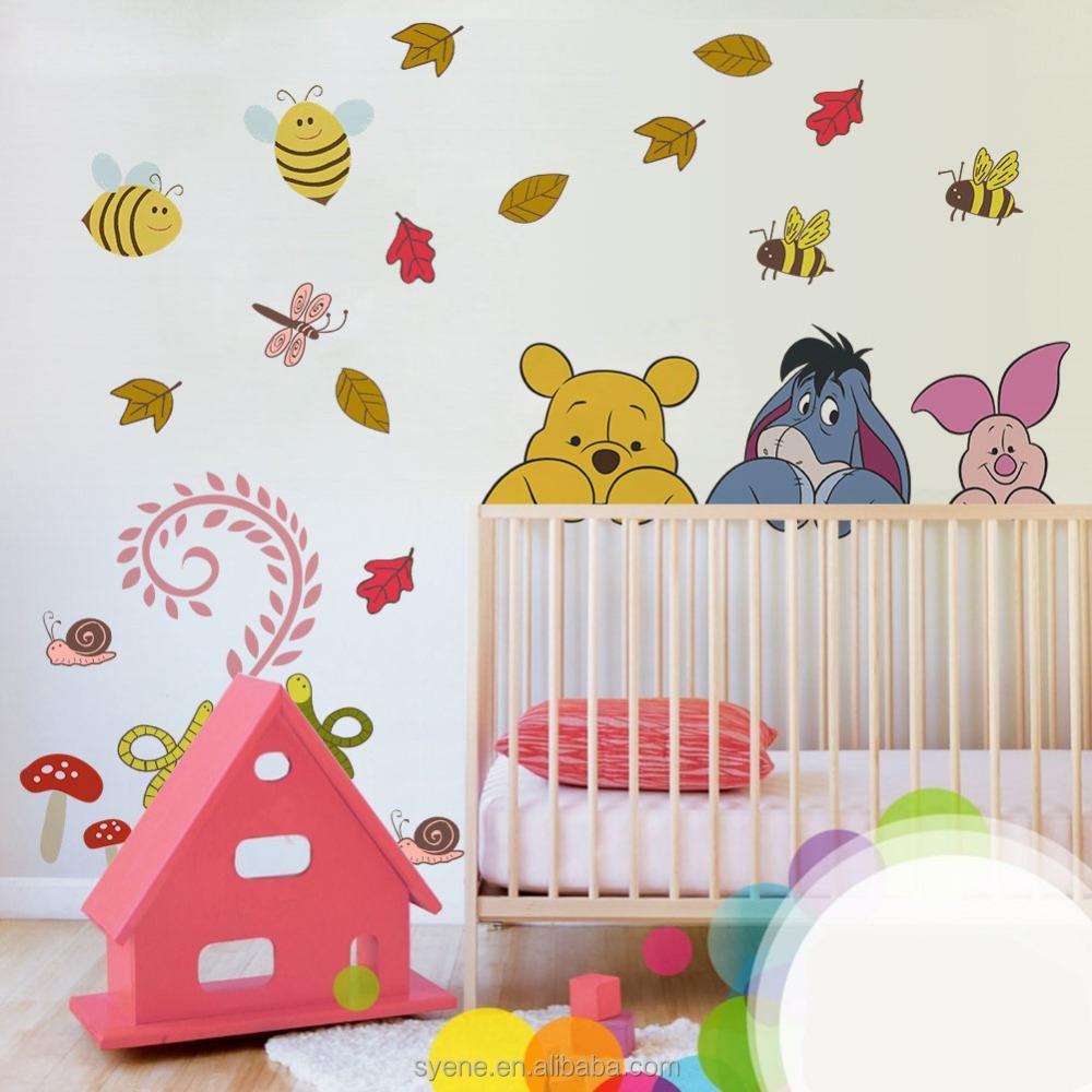 muur stickers stickers voor 3d vinyl behang voor kinderkamer babykamer ...