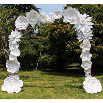 White handmade paper flower wedding arch buy paper flower arch white handmade paper flower wedding arch mightylinksfo