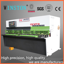 2017 Hot sale Winston NC swing beam cutting machine QC12Y - 4X2500 Motorized Back Gauge Plate Cutting Machine with foot switch