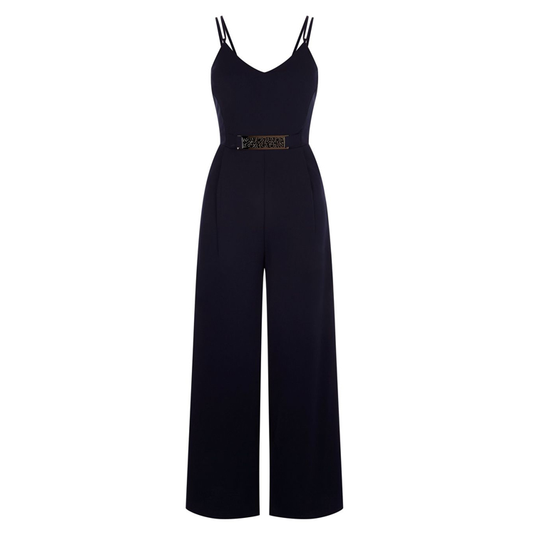 Groothandel Blank Black Strappy Playsuit Plus Size Dames Rechte Been Sexy Jumpsuits