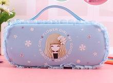 Милый чехол-карандаш для девочек, вместительная Детская сумка-карандаш на молнии для девочек, многоуровневый органайзер для хранения, Escolar ...(Китай)