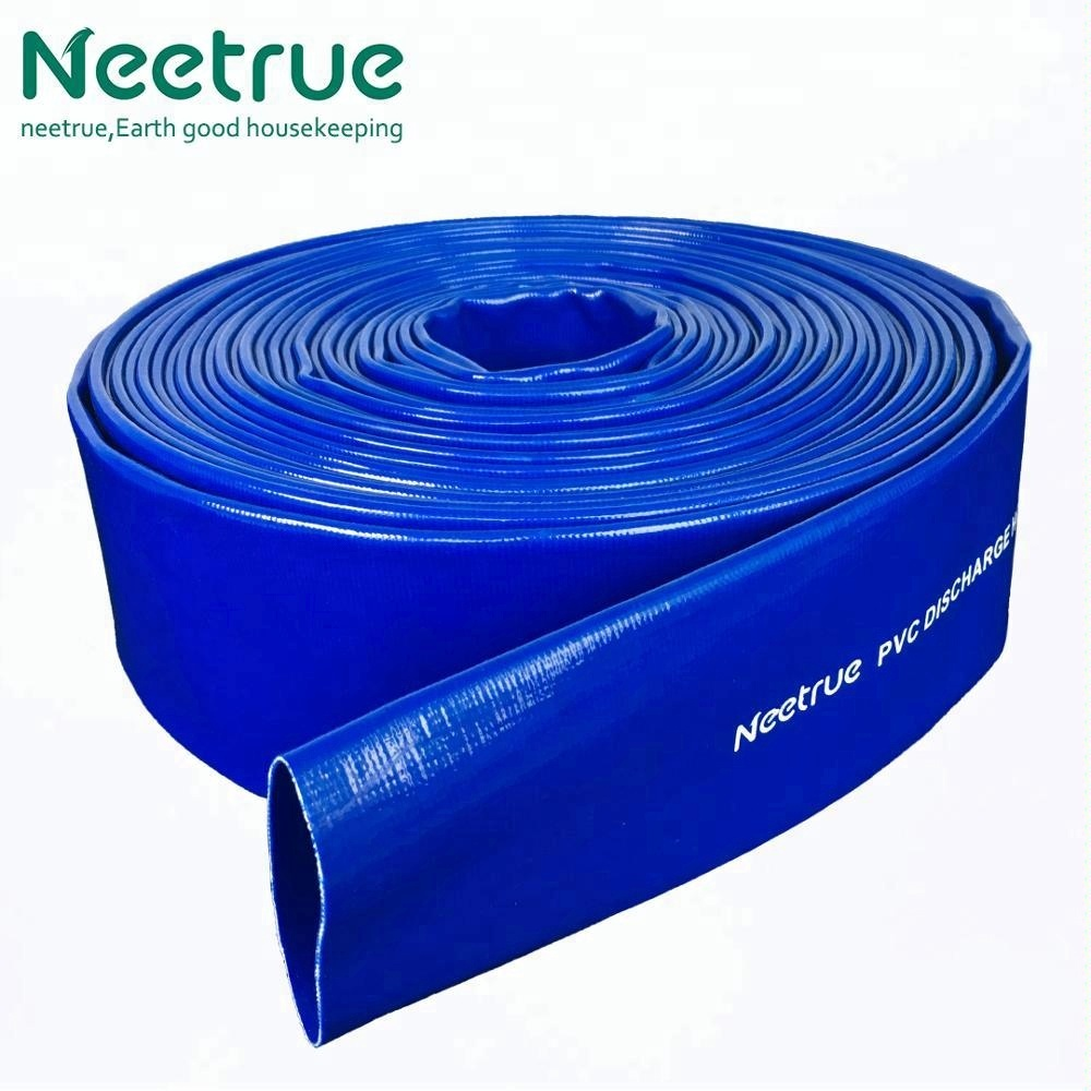 "1"" <strong>PVC</strong> reinforced lay flat discharge hose"