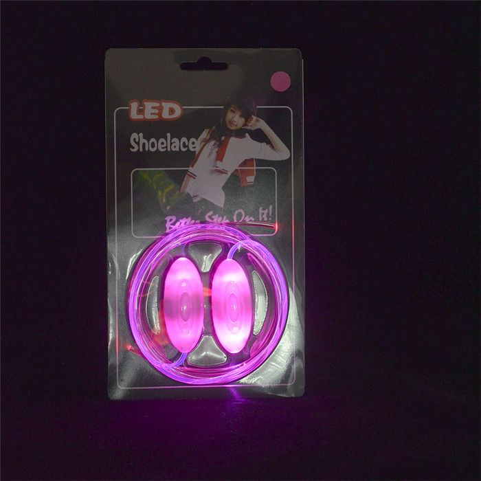 Oempromo cheap LED Shoe lace led flashing light shoe lace for party