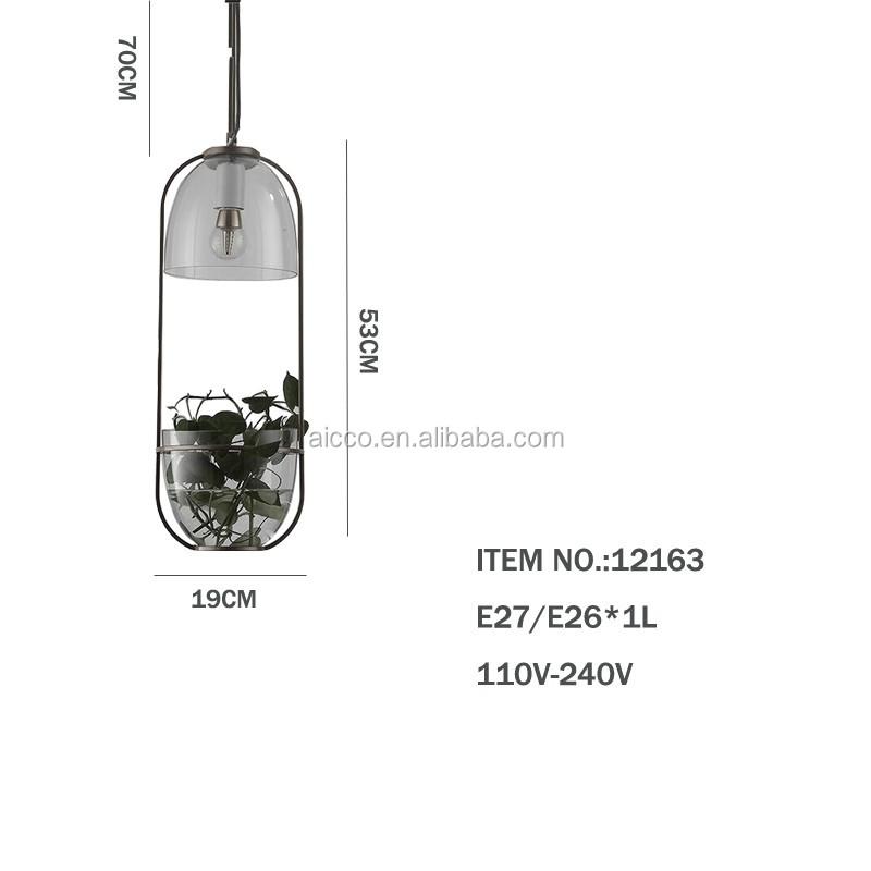 Modern Glass Pendant Light Flower Glass Pendant Light For Plant ...